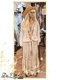 Boho/Gypsy rok Jill licht beige_