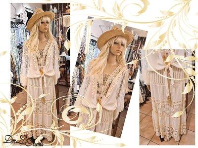Boho/Gypsy rok Jill licht beige
